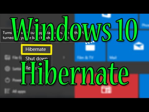 WINDOWS 10 - ENABLE / DISABLE HIBERNATE POWER OPTION