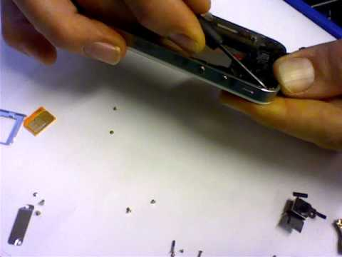 iPhone 4G Cracked Glass Repair   Reassembly Process