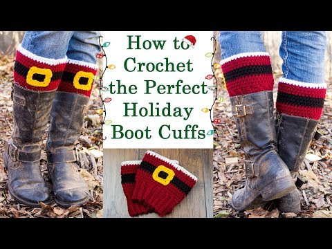 How to Crochet the Perfect Holiday Boot Cuffs