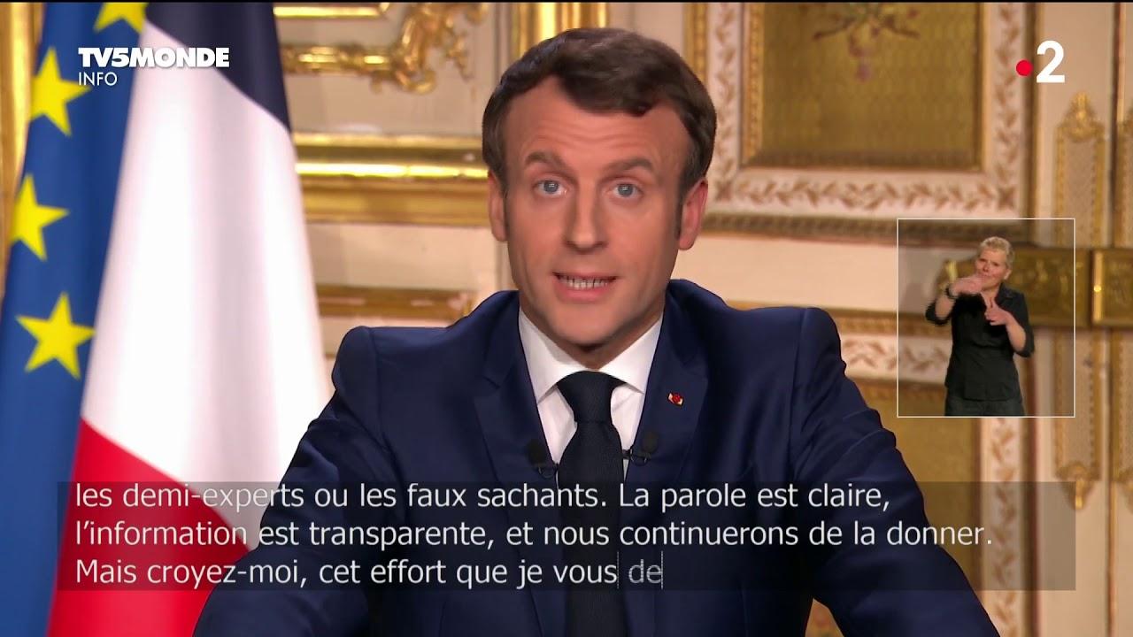 """🔴 Covid-19 - """"Nous sommes en guerre"""", allocution d'Emmanuel Macron sur l'épidémie de Coronavirus"""