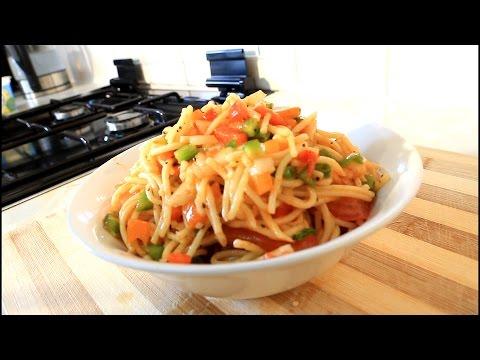 Home Made Spaghetti Salad Summer Time Salad | Recipes By Chef Ricardo