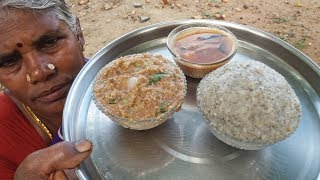 Real Village Food / Cooking Pearl Millet - Horse Gram Recipe in My Village