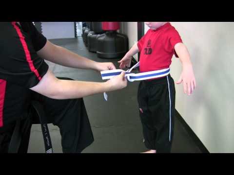 How to Tie a Single Wrap TaeKwonDo Belt