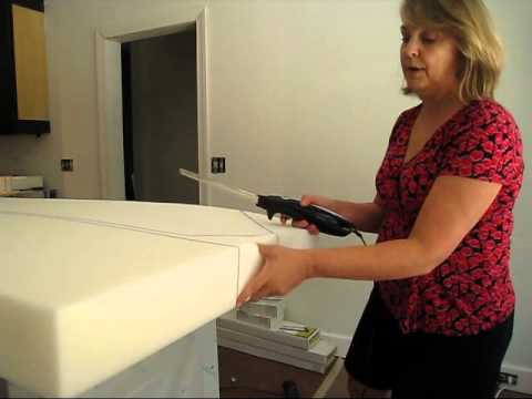 Cutting Upholstery Foam at Home