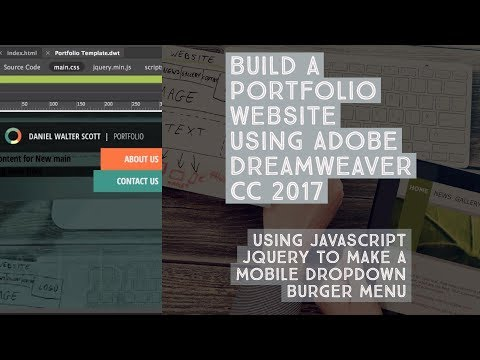 Using Javascript jQuery to make a mobile dropdown burger menu - Dreamweaver Templates [14/38]