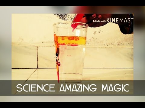 Oil and water science trick how to make volcano