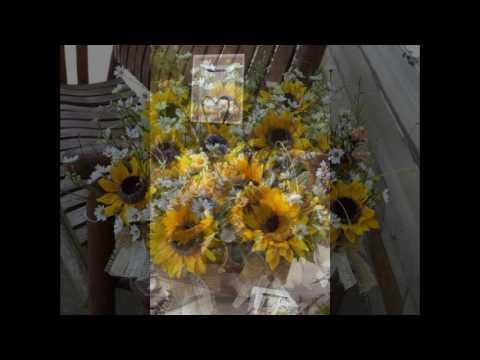 sunflower wedding table arrangements