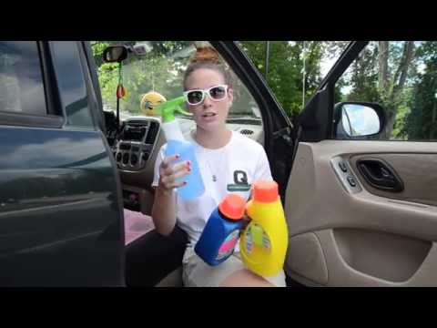 How to get stains out of your car interior
