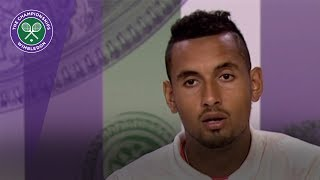 nick kyrgios wimbledon 2017 first round press conference