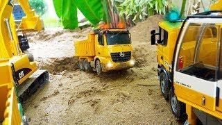덤프트럭 중장비 자동차 장난감 포크레인 구출놀이 Dump Truck Rescue Excavator Car Toy