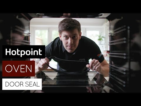 How to replace the oven door seal   by Hotpoint