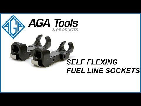 AGA Self-Flexing Fuel Line Sockets