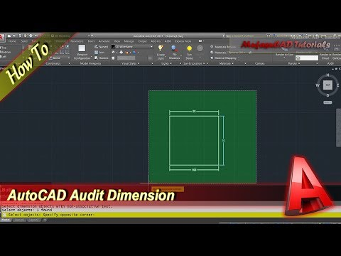 Autocad Tutorial Audit Dimension From Editing