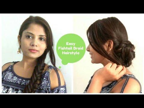 How To: EASY Fishtail Braid Tutorial For Medium Hair   Fishtail Braid Bun Hairstyle