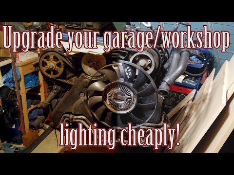 How to upgrade your gargage/workshop lighting for under £20!