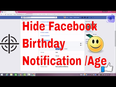 Guide to Hide your Birthday notification for friends on facebook Very Easily.