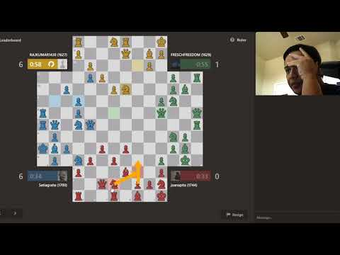 4 player chess #Free for all #rating 1744 #Tough End Game #chess.com #vlog : 34