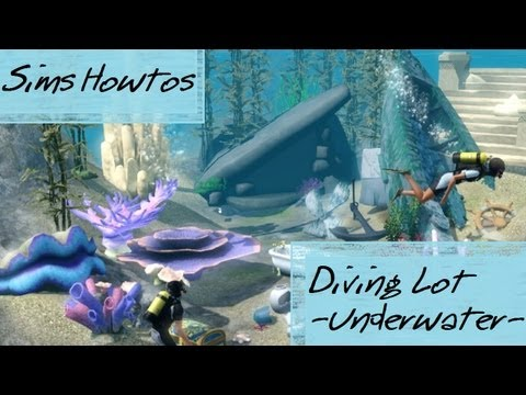 The Sims 3 - Island Paradise - UNDERWATER LOT - Diving place