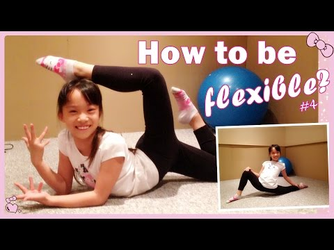 How to Become Flexible - Dynamic Stretches for beginners #4   RG Selena