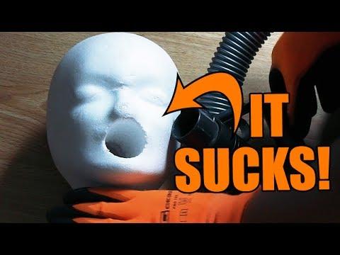 STYROFOAM HEAD vs. DRILL PRESS | How to make a blowjob machine