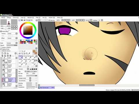 【PaintTool Sai】anime cat boy speedpaint