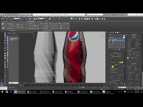 How to create 3d pepsi bottles 3d studio max