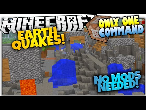 EARTHQUAKES IN VANILLA MINECRAFT!   NO MODS   Only One Command (Minecraft Vanilla Mod)