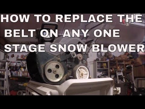 HOW TO REPLACE THE BELT ON ANY ONE STAGE SNOW BLOWER