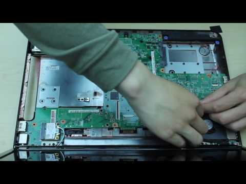 Dell inspiron N5010 laptop disassembly remove hard drive/motherboard/cooling fan etc..