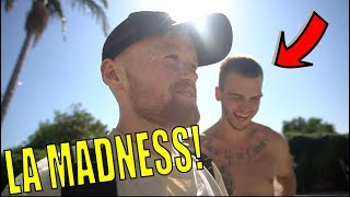 I SURPRISED HIM IN LA!! Sneaking into abandoned DAM!