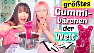 2 Verrückte machen das größte Gummibärchen der Welt 😳 XL DIY   ViktoriaSarina