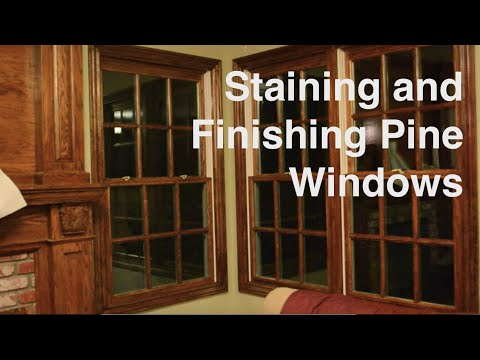 Staining and Finishing Pine Windows with Gel Stain