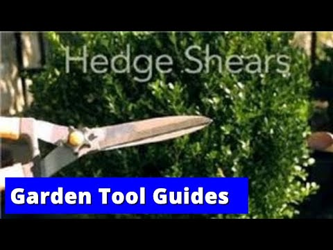 Garden Tool Guides : How to Use Hedge Shears