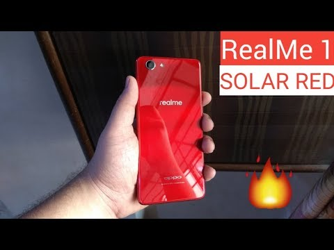 Oppo Realme 1 Solar Red Unboxing & Hands on,Camera,Specs,Price [Hindi]