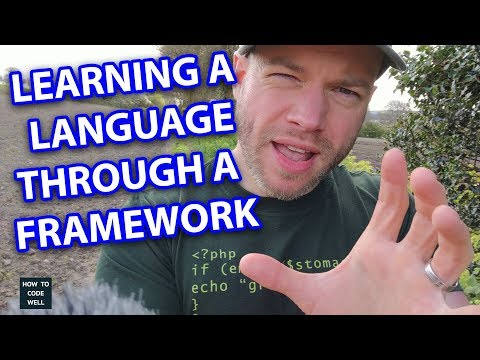 Learning a programming language through a framework  | Thoughts from Kynance Cove Cornwall 2018