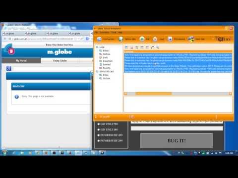 bugging globe sim for free internet