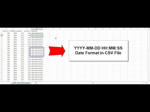 Format Date To YYYY-MM-DD HH:MM:SS Does Not Stay - Excel | CSV File