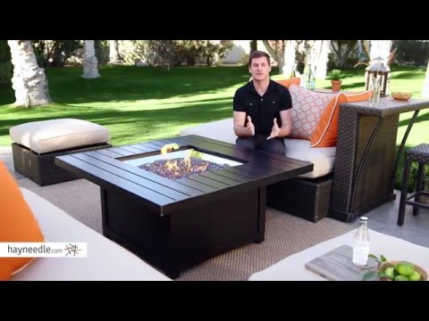 Napoleon Square Propane Fire Pit Table - Product Review Video
