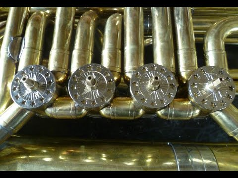 tuba rotary valve:clearence reduction/barillet de tuba: reduction des jeux /