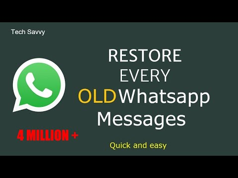 how to restore deleted whatsapp messages?  2018 Latest.