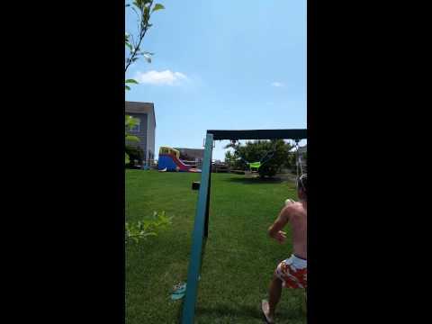 Water balloon catapult craziness