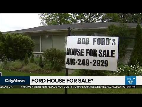 Rob Ford's house up for sale?