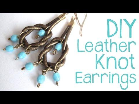 DIY Leather Knot Earrings - Easy Leather Earring Tutorial