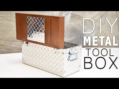 Easy DIY TOOL BOX (Metal and Wood) | DIY Creators