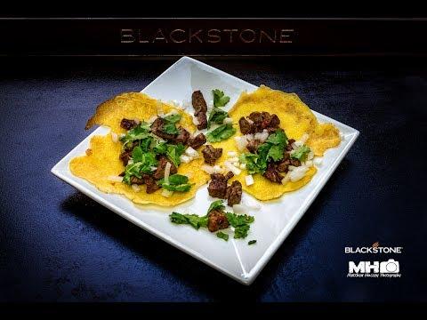 Carne Asada and homemade taco shells on the 36
