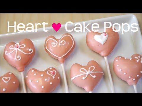 Heart-shaped Cake Pops ハート型 ロリポップ ケーキ ポップス Recipe
