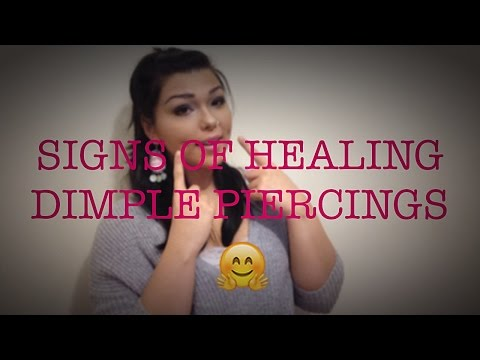Signs of Healing Dimple Piercings | NativeBeauty