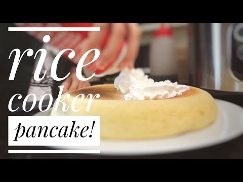 cooking a rice cooker pancake!!