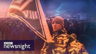 Ukraine: On patrol with the far-right National Militia - BBC Newsnight