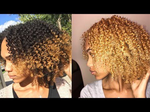 I BLEACHED MY NATURAL HAIR BLONDE??? | MY COLOR TRANSFORMATION